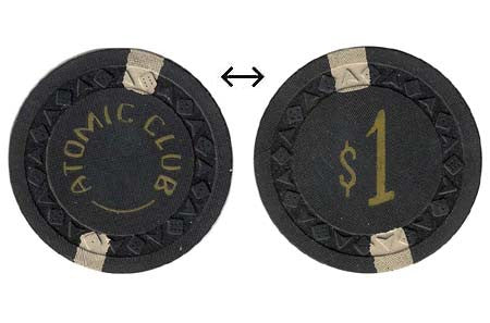 Atomic Club Winnemucca $1 Chip 1951