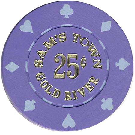 Sam's Town Gold River 25cent Chip 1980's