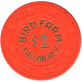 Bird Farm Casino $1 Orange Chip - Spinettis Gaming - 2