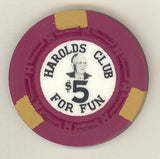 Harolds Club Reno $5 chip Pappy Smith #2 1959 - Spinettis Gaming - 2