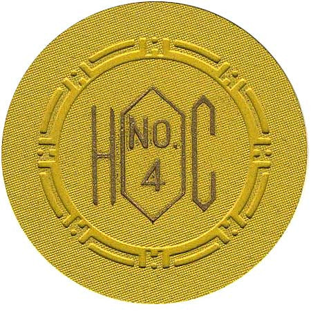 Harolds Club No. 4 chip Yellow