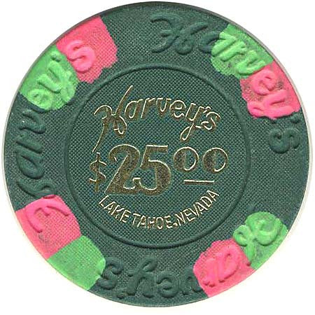 Harveys $25 Green (House & Hotstamp) chip - Spinettis Gaming - 1