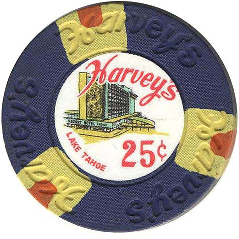 Harvey's Casino Lake Tahoe NV 25 Cent Chip 1968