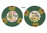 Harveys $25 Green (House & Inlay) chip - Spinettis Gaming - 2