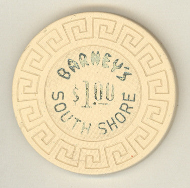 Barney's Casino $1 ( cream 1970s) Chip - Spinettis Gaming - 1