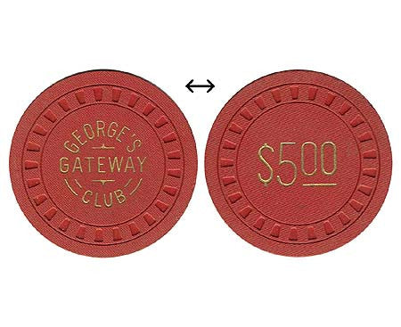George's Gateway Club $5 chip