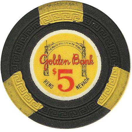 Golden Bank $5 (Blk) chip