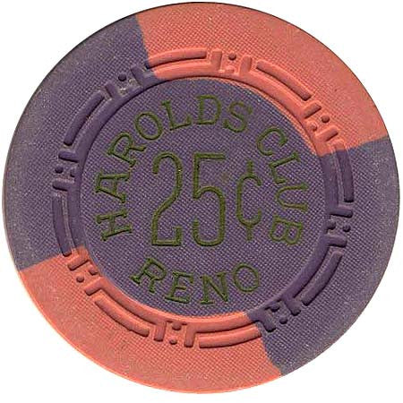 Harold's Club 25cent Purple chip