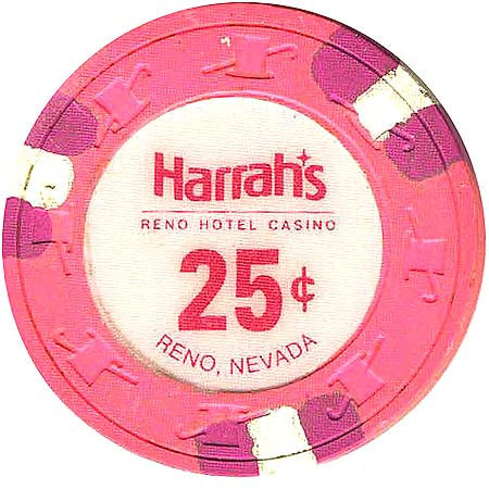 Harrah's 25 (pink) chip - Spinettis Gaming - 1