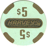 Harveys Casino Lake Tahoe $5 chip - Spinettis Gaming