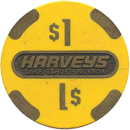 Harvey's Casino Lake Tahoe NV $1 Chip 1986