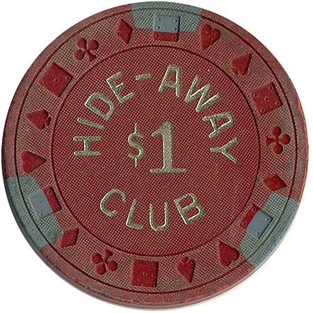 Hide-Away Club $1 (red) chip