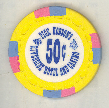 Riverside Pick Hobson's Casino Reno NV 50 Cent Chip 1978