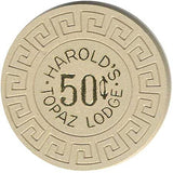 Harold's Topaz Lodge 50cent Beige chip - Spinettis Gaming
