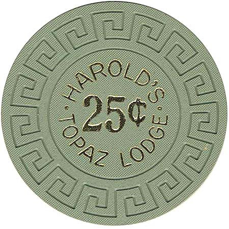 Harold's Topaz Lodge 25cent Green chip