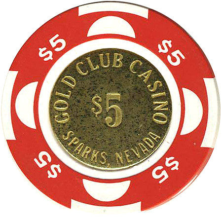 Gold Club Casino $5 chip