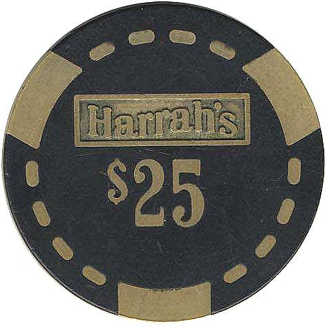Harrah's $25 (Black) chip - Spinettis Gaming - 1