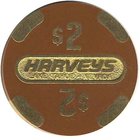 Harvey's Casino Lake Tahoe NV $2 Chip 1986