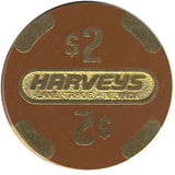 Harveys $2 Brown (Brass) chip - Spinettis Gaming - 2
