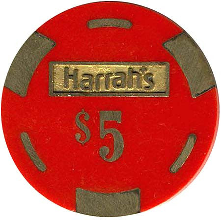 Harrah's $5 red chip - Spinettis Gaming - 2