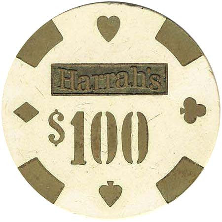 Harrah's Reno & Lake Tahoe Casino $100 chip 1980s - Spinettis Gaming