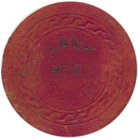 Bank Club Casino Reno NV 5 Cent Chip 1930s Damage