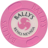 Ballys Reno Hot Pink  Roulette Chip 1986
