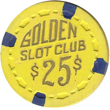 Golden Slot Club $25 (yellow) chip - Spinettis Gaming - 1