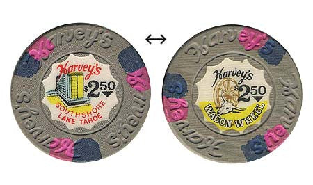 Harvey's Casino Lake Tahoe NV $2.50 Chip 1973