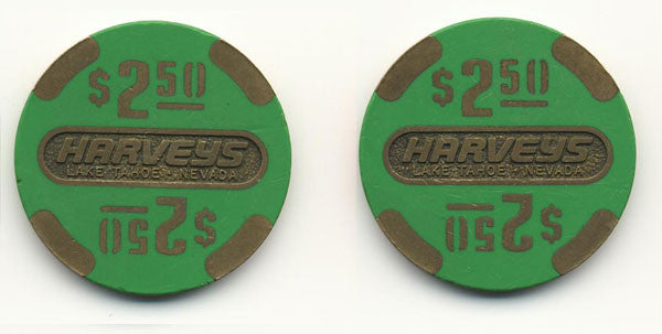 Harvey's Casino Lake Tahoe NV $2.50 Chip 1986