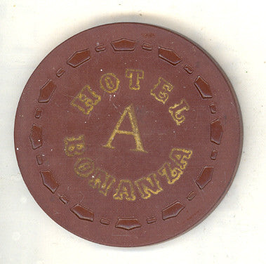 Bonanza Hotel roulette (brown A 1967) Chip - Spinettis Gaming - 1