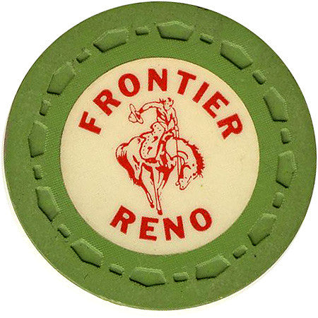 Frontier Club Roulette (green) chip