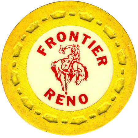 Frontier Club Roulette (yellow) chip