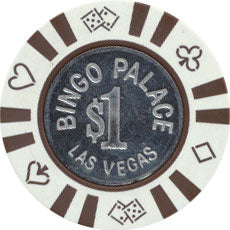 Bingo Palace Las Vegas $1 Chip 1983 Smooth Coin