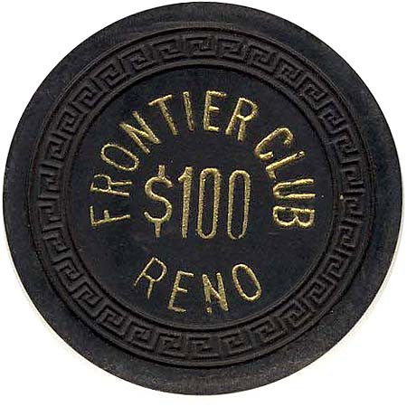 Frontier Club $100 chip