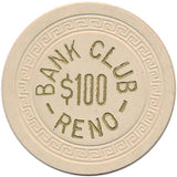 Bank Club Reno $100 Chip 1951