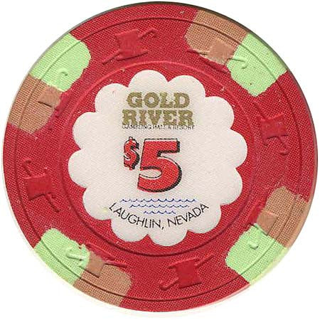 Golden River $5 (red) chip - Spinettis Gaming - 2
