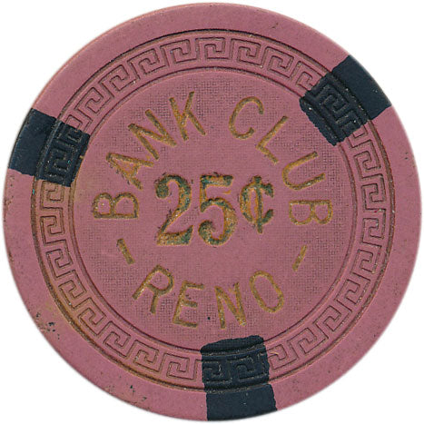 Bank Club Reno 25 cent Chip 1942