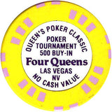 Four Queens Poker Classic 500 Buy In chip - Spinettis Gaming - 1