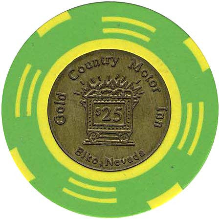 Gold Country $25 chip - Spinettis Gaming - 1
