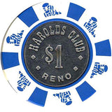 Harold's Club $1 white chip - Spinettis Gaming - 2