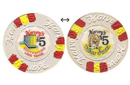 Harvey's Casino Lake Tahoe NV $5 Chip 1970s