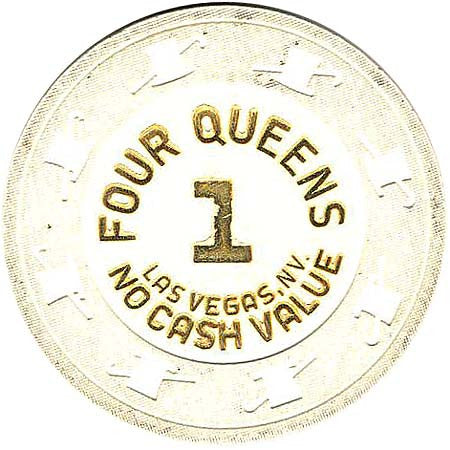 Four Queens 1 (white) chip