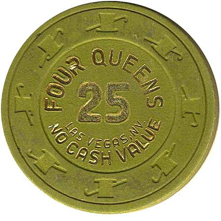Four Queens 25 (green) (no cash) chip