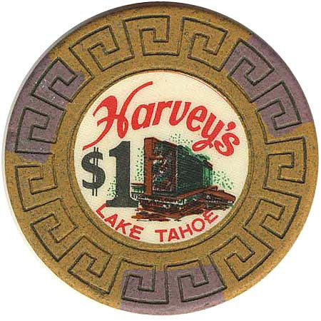 Harvey's Casino Lake Tahoe NV $1 Chip 1964