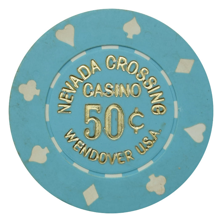 Nevada Crossing Casino Wendover USA 50 Cent Chip 1986