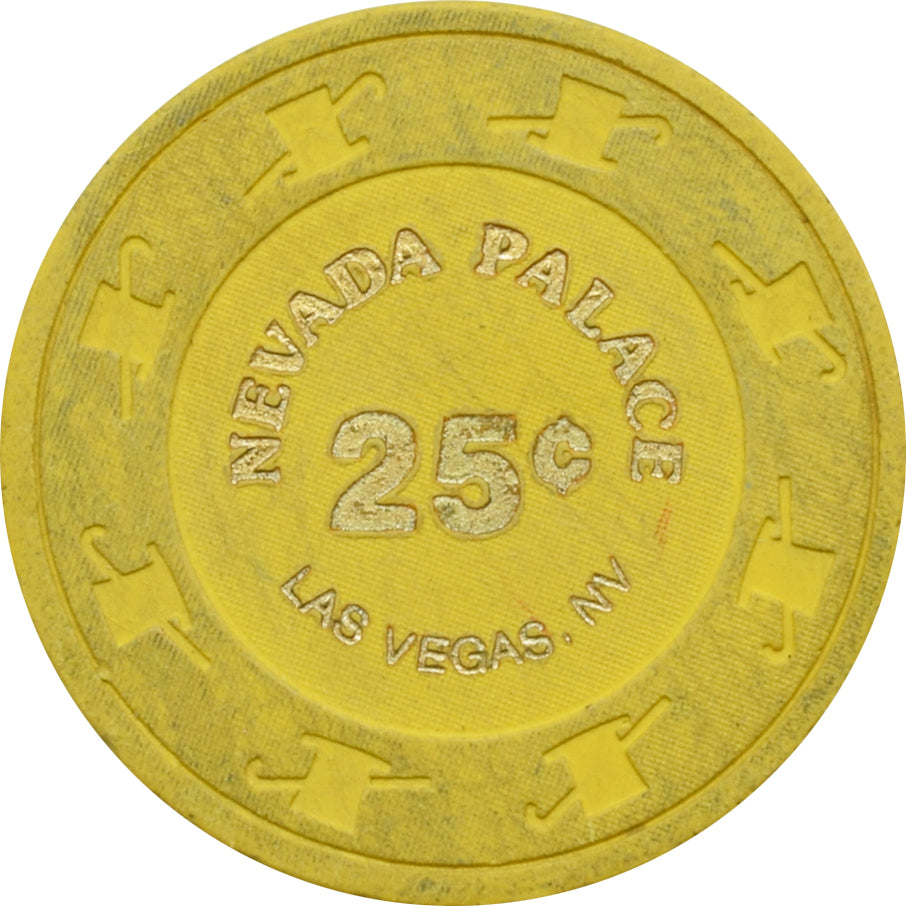 Nevada Palace Casino Las Vegas NV 25 Cent Chip 1980s