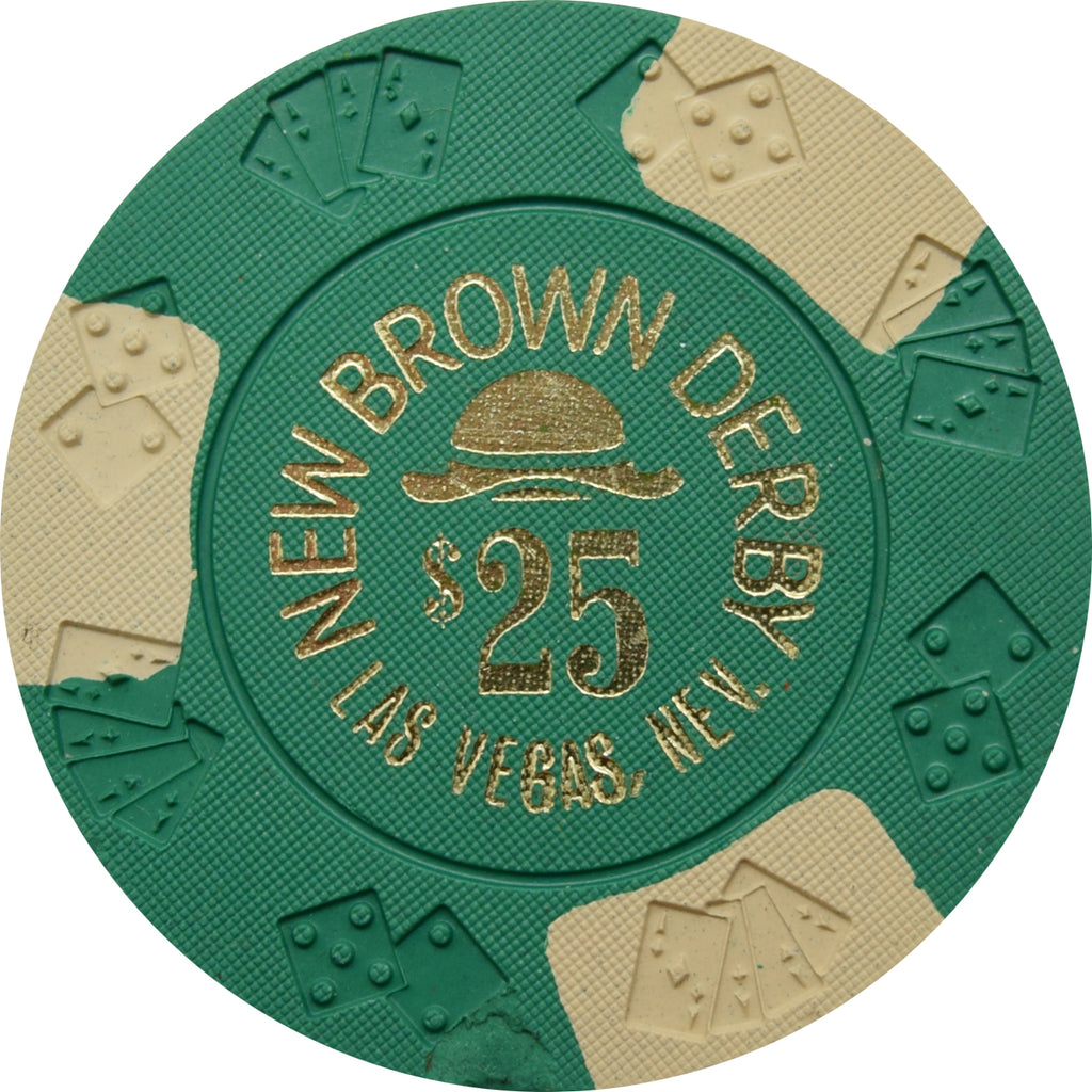 New Brown Derby Casino Las Vegas NV $25 Chip 1979