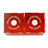 The Palazzo Casino Used Matching Numbers Pair of Red Dice
