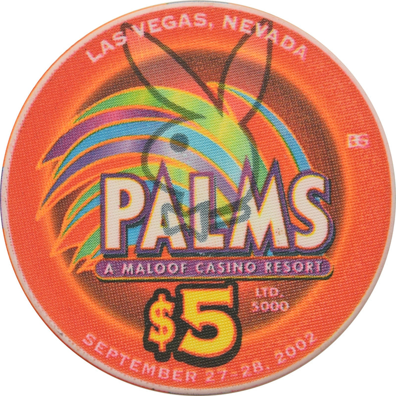 Palms (Playboy Club) Casino Las Vegas NV $5 20 Years of Excitement Chip 2002